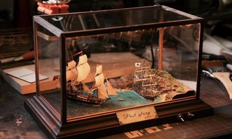 【舰船】1/700全自制18世纪风帆场景