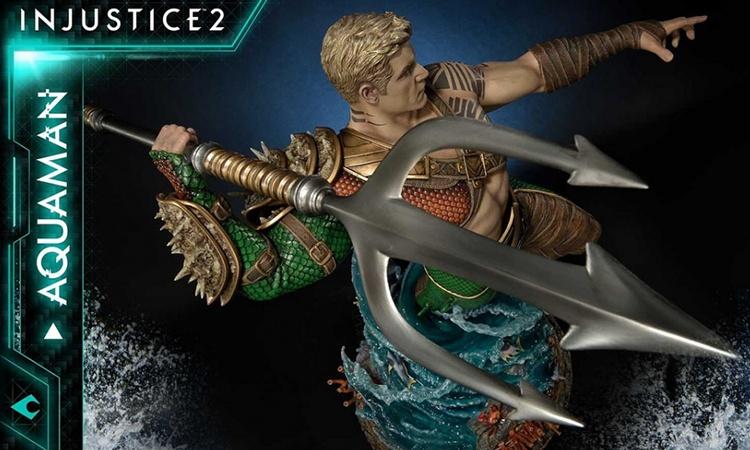《不义联盟2》海王 1/4 比例全身雕像作品