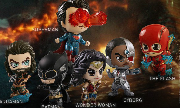 Hot Toys 《正义联盟》Justice League Cosbaby Collectible Set